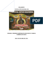 Reglamento Caballos Cusco