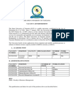 Vacancy Announcement - 29 October2015