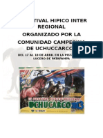 Reglamento Del III Festival Hípico Regional Uchuccarco Chamaca 2013.Doc Ultimo