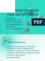 Sifat Sifat Steroid Dan Aktivitasnya