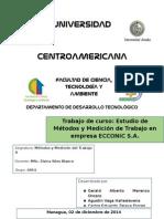 Informe Final MMT2. Empresa ECCONIC S.a.