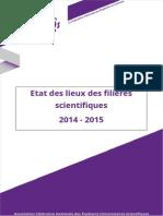 Etat des lieux des filières scientifiques