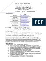 Chemical Engineering 4L02 Course Outline