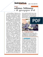 Corradino Mineo lascia il PD