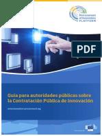 Guía para autoridades públicas sobre la Contratación Pública de Innovación