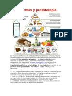 Alimentos y presoterapia