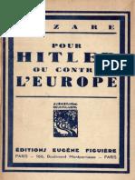 Aubert Paul - Pour Hitler Ou Contre l'Europe