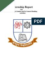 Internship Report on Janata Bank Limited and Its General Banking Activities