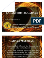 KARAKTERISTIK CAHAYA