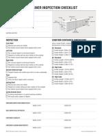 Container Checklist