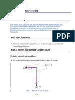 Uniform Circular Motion Report