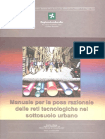 Manuale Per La Posa Razionale Delle Reti Tecnologiche Del Sottosuolo