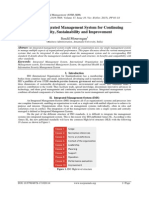 Auditing Integrated Management System for Continuing Suitability, Sustainability and Improvement