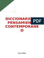 Diccionario de Pensamiento Contemporaneo