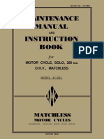 1941 Matchless Manual