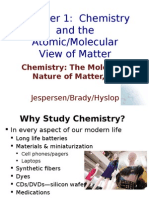 Ch01 Chemistry and the Atomic Molecular View of Matter