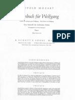 Mozart, L. - Notenbuch Fur Wolfgang