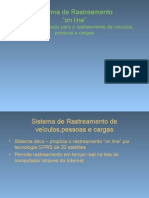 Sistema de Rastreamento on Line SRL