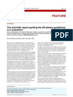 The scientific report guiding the US dietary guidelines