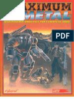 Cyberpunk 2020 - CP3191 - Maximum Metal