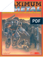 Cyberpunk 2020 - CP3191 - Maximum Metal