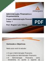 VA Administracao Financeira e Orcamentaria Aula 1 Tema 1