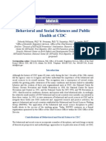 Behavioral and Social Sciences and Public Health at CDC