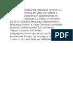 Empresa de Transportes Moquegua Turismo s