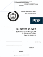 CIA OIG report on Engagement with the Entertainment Industry