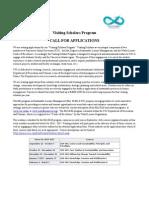 Visiting Scholar Application 2016-17