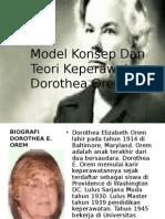 Model Konsep Dan Teori Keperawatan Dorothea Orem