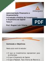 VA Administracao Financeira e Orcamentaria Aula 4 Tema 4
