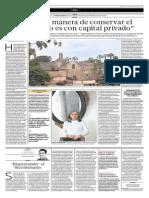 La Única Manera de Conservar El Patrimonio Es Con Capital Privado