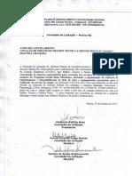 Aviso de Cancelamento Cotação de Preços por Melhor Técnica e Menor Preço Nº.014/2015