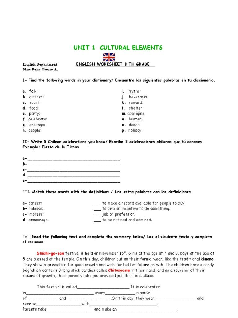 - Worksheet 8 Grade Syntax Grammar Free 30-day Trial Scribd