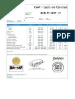 Certificados Fact. 001-0007467 LLDPE SST Serie 01827 -01 Al 27 1.50 Mm ...