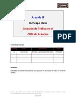 Creación de Tráfico en CRM Autoline