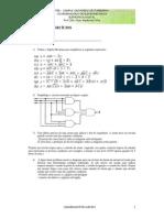 3ª Lista de Exercícios - Simplificação Com Álgebra Booleana e Mapa de Karnaugh