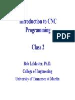 Class 2 - Slides Int CNC Programm