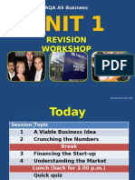 Y12 Business Studies - Unit 1 Revision Workshop