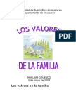 VALORES DE LA FAMILIA