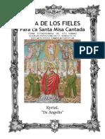 GUÍA DE LOS FIELES PARA LA SANTA MISA CANTADA. Kyrial De Angelis  2015