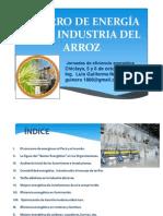 Ahorro de Energía en La Industria Arrocera