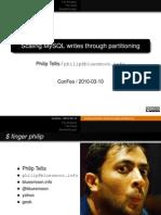 Scaling MySQL writes through Partitioning