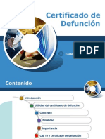 Certificado de Defunción 2015
