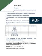Clase 1 Conjuntos Numericos