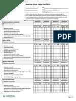 Machine Shop Inspection Form 5.82