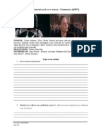 Ficha de Visualização do filme Contacto