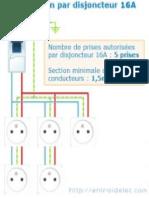 Schema Prises Disjoncteur 16A