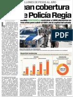 03-11-15 Plantean cobertura total de Policía Regia